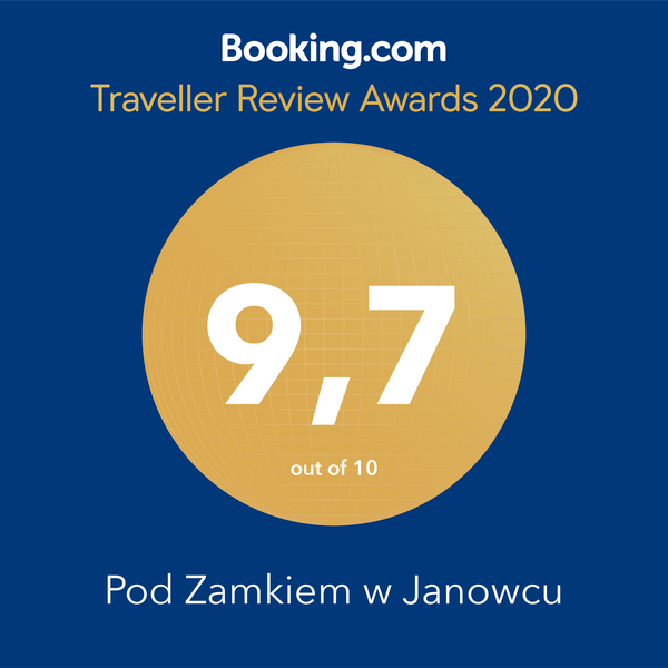 Booking_TravellerReviewAward_2020_Pod_zamkiem_w_Janowcu_nagroda_01social_media